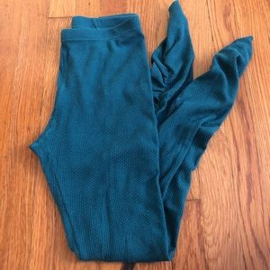 Free People Forest Green Sweater Leggings